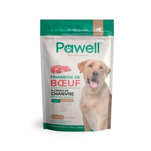 Friandises CBD pour moyen et grand chien Pawell
