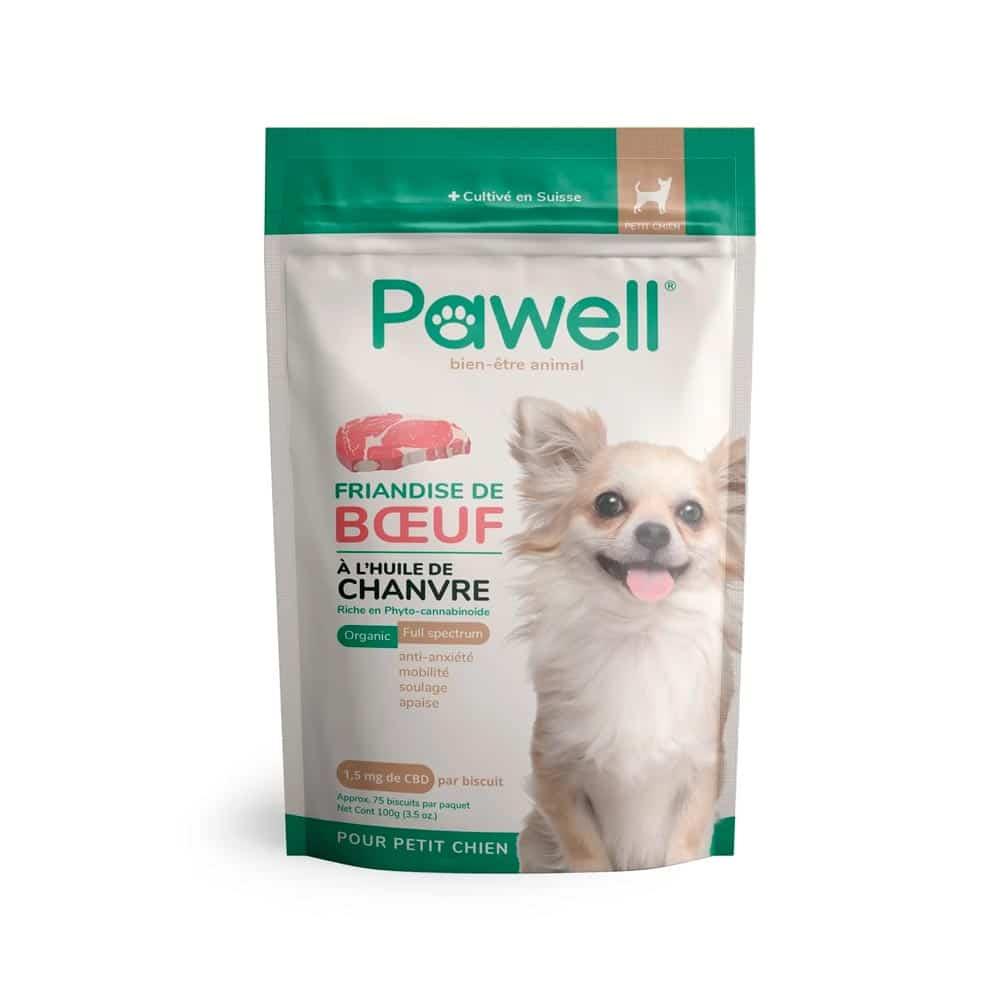 Friandises CBD pour petit chien Pawell