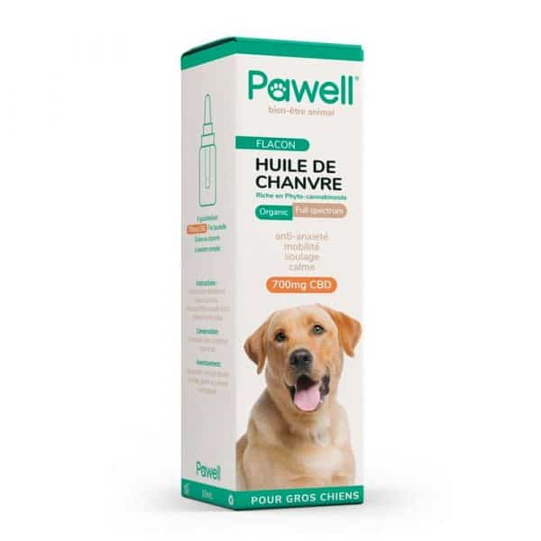 Huile CBD pour grand chien Pawell