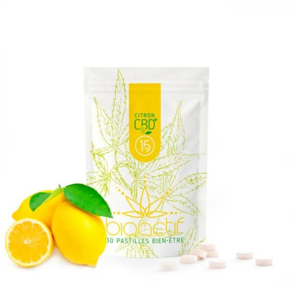 Pastilles CBD CBG citron et vitamine C